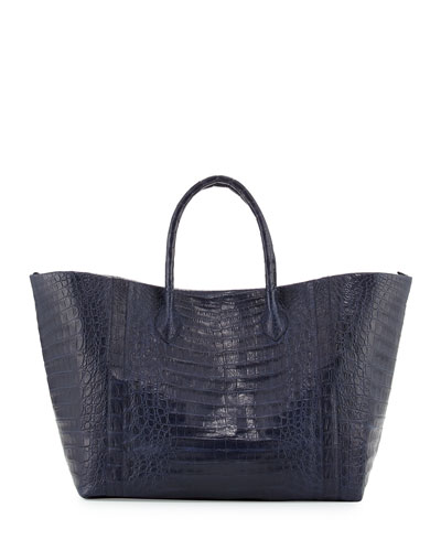 Large Crocodile Convertible Tote Bag