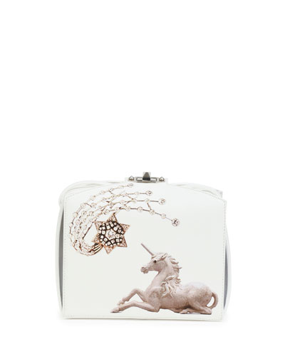 Unicorn Box Clutch Bag, White
