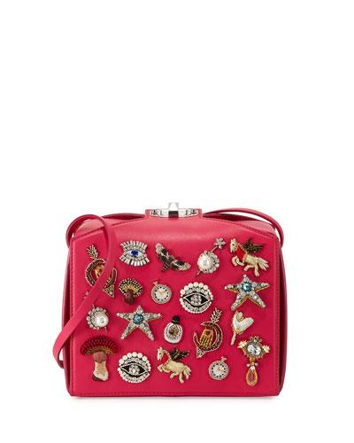 Embellished Box Clutch Bag, Pink