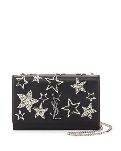 Monogram Medium Star Chain Shoulder Bag, Noir