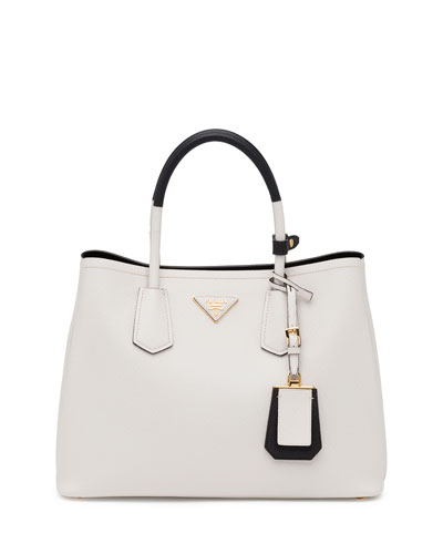 Saffiano Cuir Small Double Bag