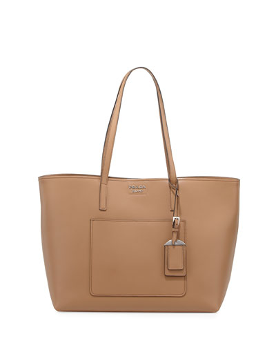 Soft Leather Shopper Tote Bag