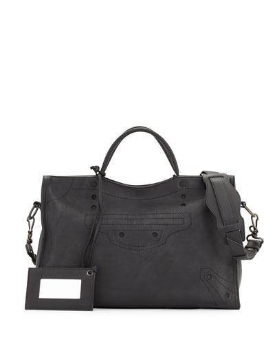 Blackout City AJ Shoulder Bag, Black