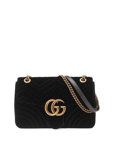GG Marmont 2.0 Medium Suede Shoulder Bag