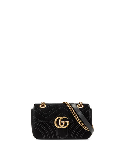 GG Marmont 2.0 Mini Quilted Velvet Crossbody Bag