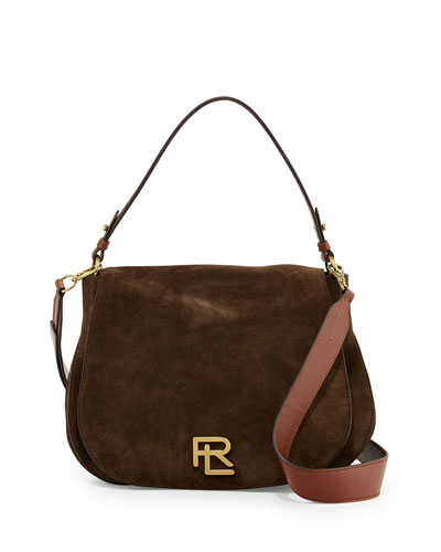 RL Suede Messenger Bag, Loden