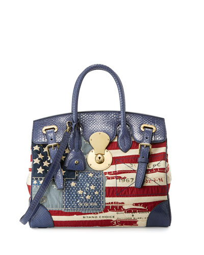 American Flag Ricky Bag, Red/Blue