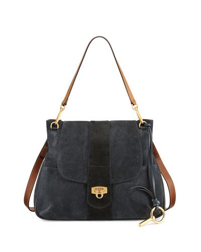 Lexa Medium Shoulder Bag, Blue