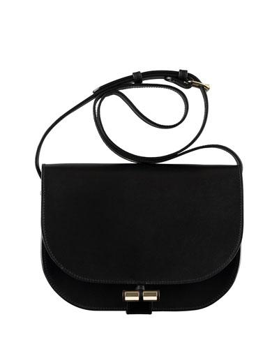 June Calfskin Crossbody Bag, Black
