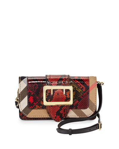 Hebden Patchwork Snakeskin Shoulder Bag