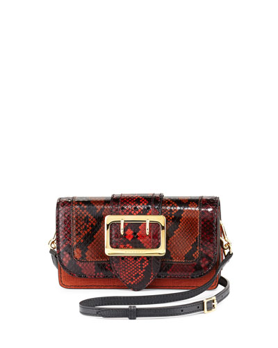 Bredicot One-of-a-Kind Snakeskin & Leather Patchwork Bag