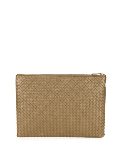 Large Zip-Top Cosmetics Bag, Calvados Gold