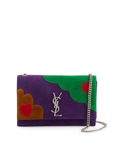 Monogram Kate Medium Patchwork Chain Bag, Violet