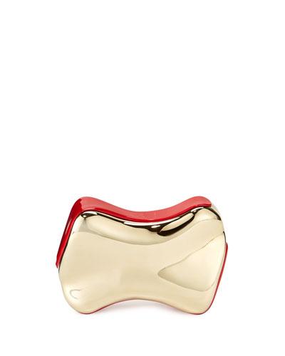 Shoespeaks Brass Clutch Bag