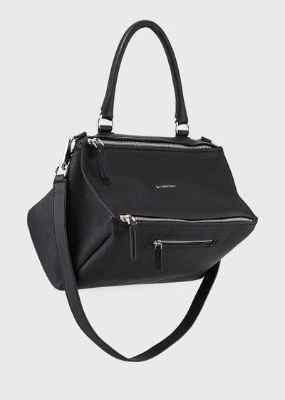 Pandora Medium Sugar Satchel Bag, Black