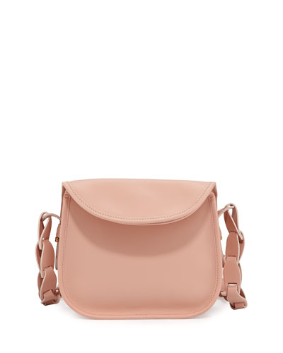 Houston Mini Leather Crossbody Bag, Medium Pink