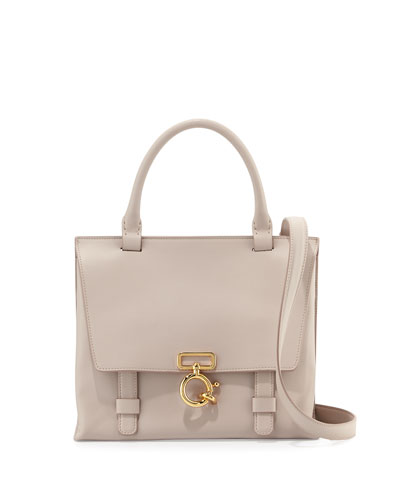 Mini Ave A Leather Satchel Bag, Neutral