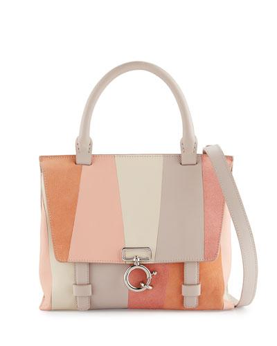 Mini Ave A Patchwork Satchel Bag, Neutral Pattern