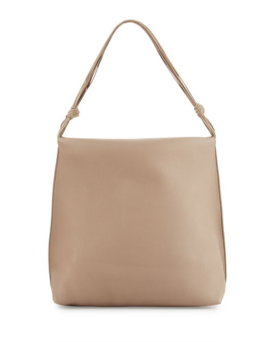Wander Calf Leather Top-Handle Bag