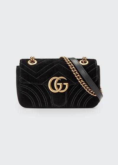 GG Marmont 2.0 Mini Quilted Velvet Crossbody Bag b885dd0b7257b