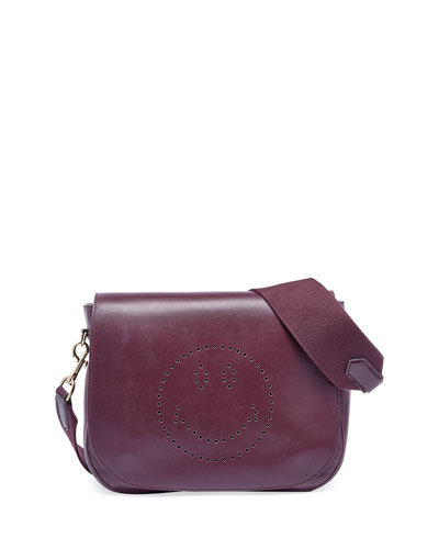 Ebury Satchel Smiley Shoulder Bag, Wine