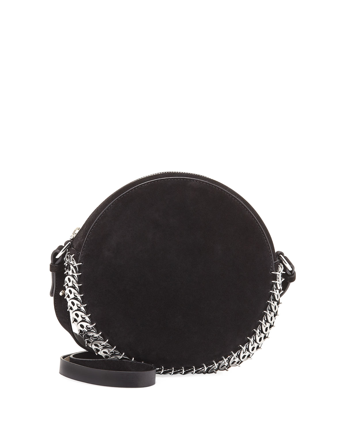 14#02 Suede Circle Bag, Black