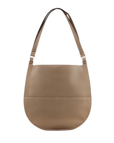 Weekend Large Leather Hobo Bag
