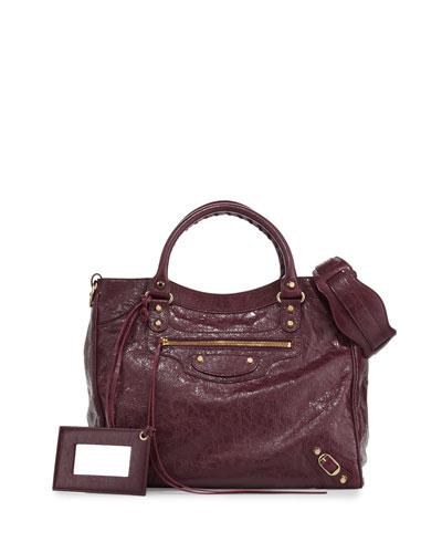 Classic Velo Lambskin Tote Bag, Violet