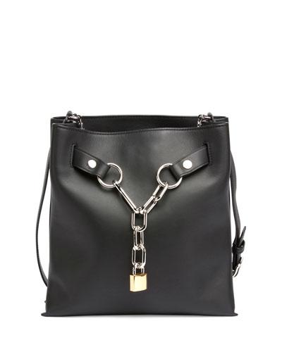 Attica Chain Crossbody Bag, Black