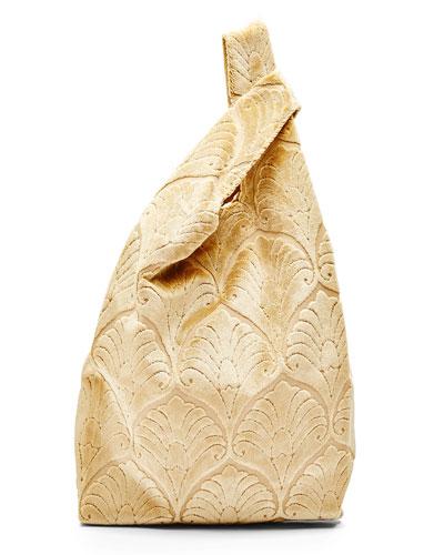 Venetian Brocade Shopper Tote Bag, Gold