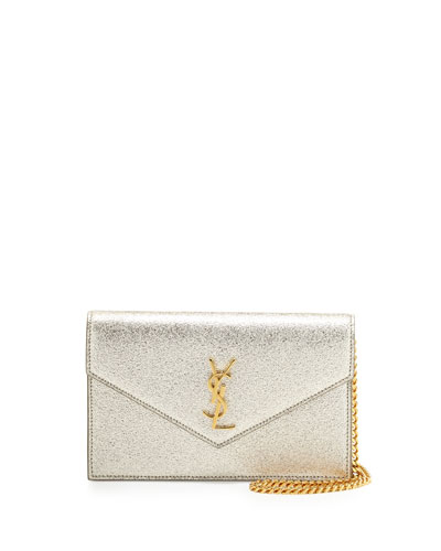 Monogram Small Pebble Leather Wallet-on-Chain Bag