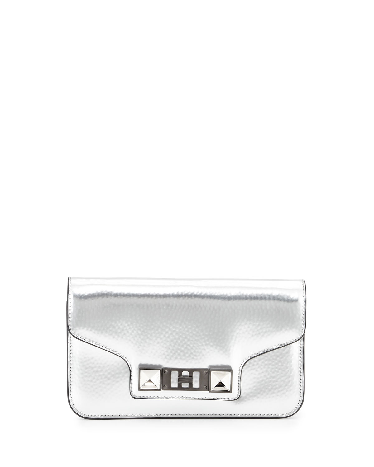 PS11 Metallic Leather Chain Wallet