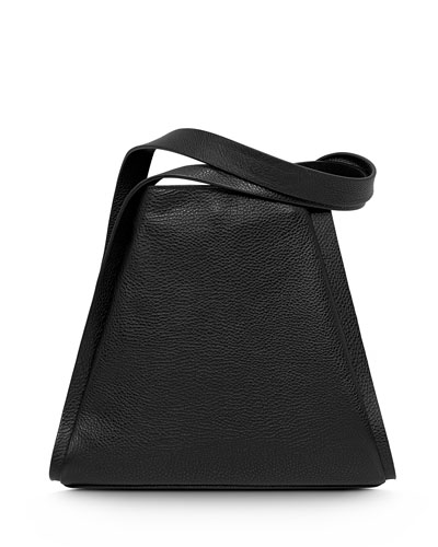 Alex Medium Seamed Bucket Tote Bag, Black