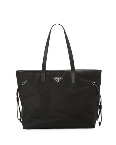 7783531573ec Vela Side-Cinch Shopping Tote Bag, Black (Nero)