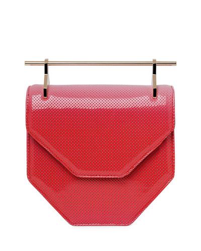 Amor Fati Perforated Patent Satchel Bag, Coral