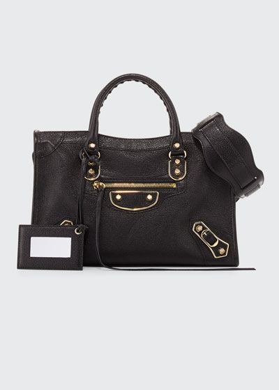 7a6356b298 Classic Metallic Edge City Small Bag, Black/Gold Quick Look. Balenciaga