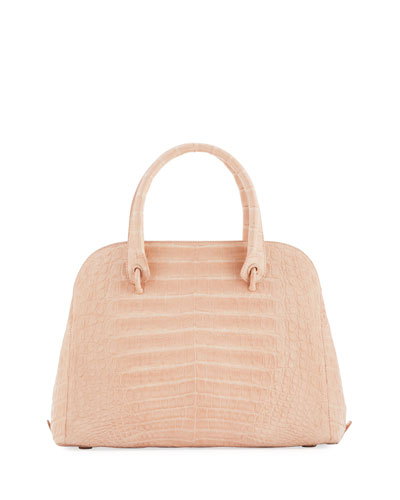 Crocodile Medium Open Dome Tote Bag
