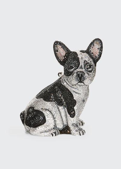Fred French Bulldog Crystal Clutch Bag, Silver