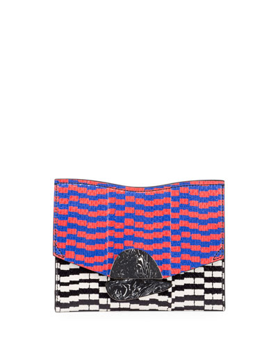 New Small Mixed-Print Snakeskin Clutch Bag