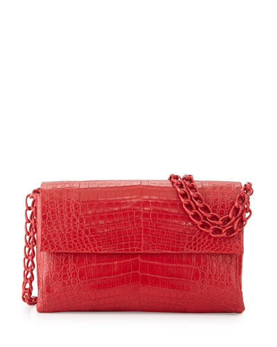 Medium Crocodile Double-Chain Shoulder Bag