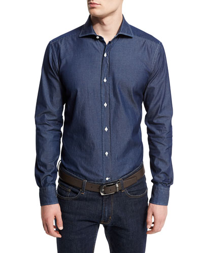 eb5b44af42 Washed Denim Button-Down Shirt