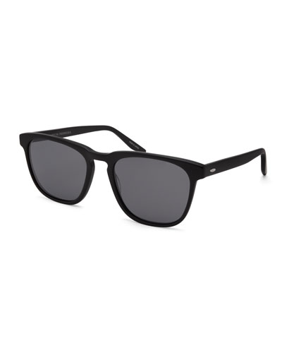 Cutrone Polarized Classic Square Sunglasses, Matte Black