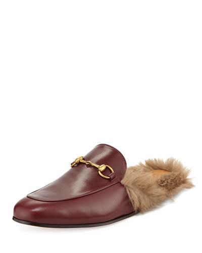 Men's Princetown Kangaroo Fur-Lined Slipper, Red