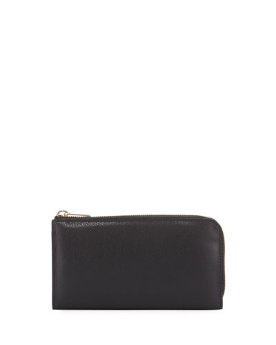Small Zip-Around Travel Wallet, Black