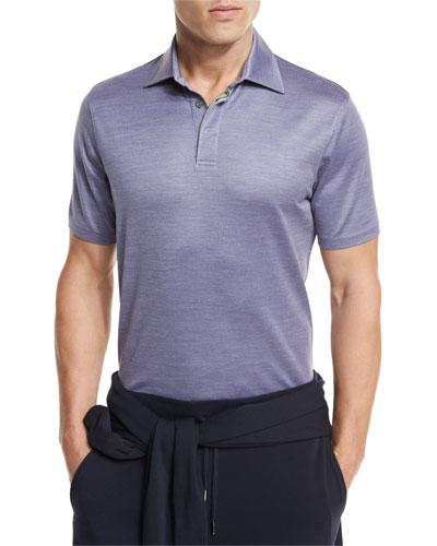 Textured Polo Shirt, Light Purple