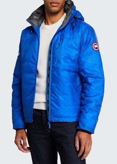 PBI Down-Fill Lodge Hoodie Jacket, Royal Blue