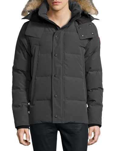 Wyndam Down Parka with Fur-Trim Hood