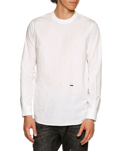Dan Shirting Long-Sleeve T-Shirt, White