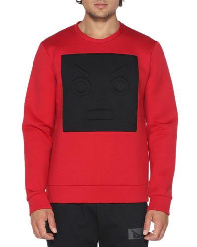 Neoprene Sweatshirt w/Cube Face