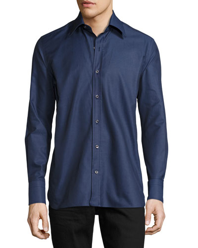 Twill Button-Down Shirt, Night